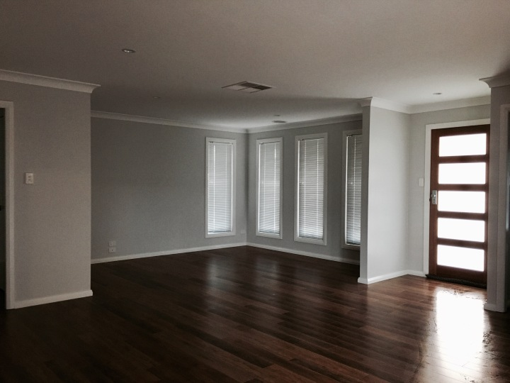 Empty lounge room in home.