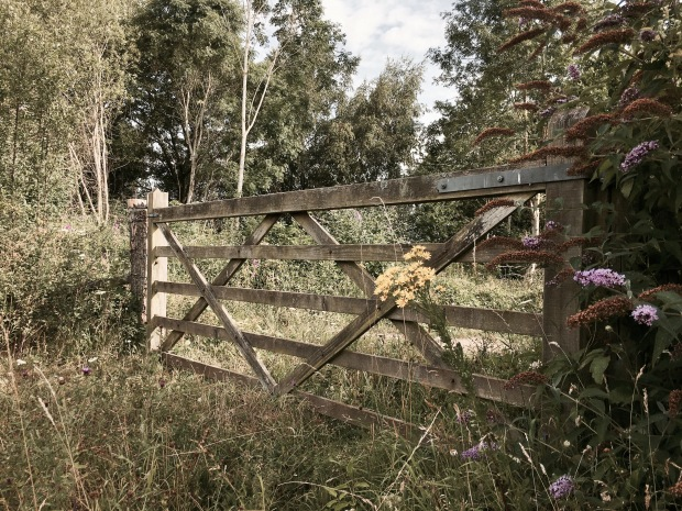 Gate into St Wulstan's Nature Reserve in Malvern Wells, Worcestershire, England.