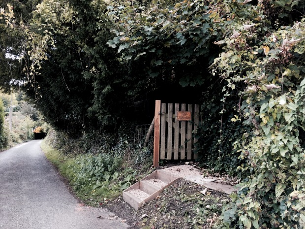 Front gate to a house on Holywell Road, Malvern, Worcestershire, England.