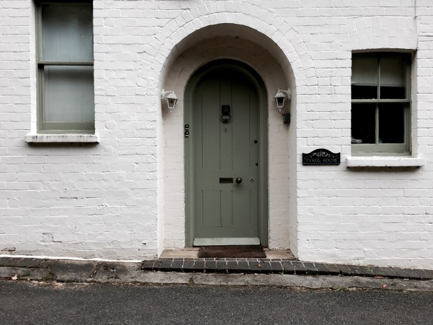 Brick cottage on Holywell Road, Malvern, Worcestershire, England.
