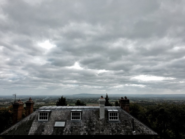 View out over the Severn Valley from Holywell Road, Malvern, Worcestershire, England.