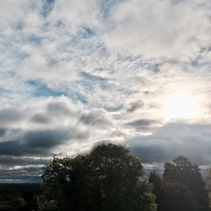 A moody looking sky over Worcestershire in England.