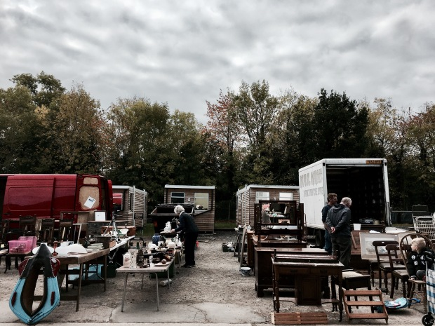 Flea fair in Malvern, Worcestershire, England.