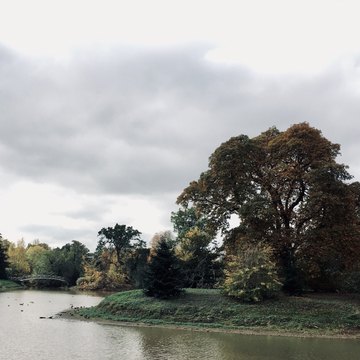 The lake at Croome Park, Worcestershire, England.