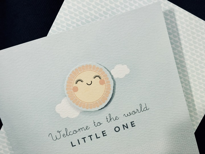 'Welcome to the world little one' card.