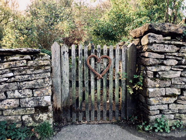 Front gate to home in Bibury, Gloucestershire.