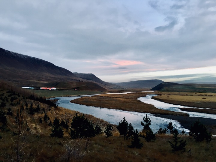 View from farm in valley near Húnavatnshreppur, Iceland.