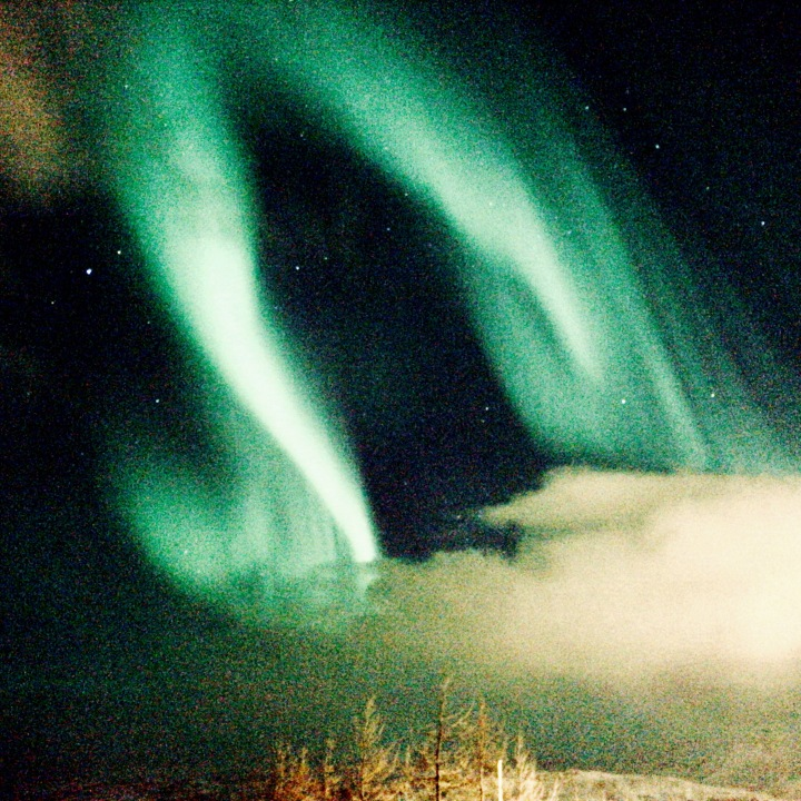 The northern lights from Akureyri, Iceland.