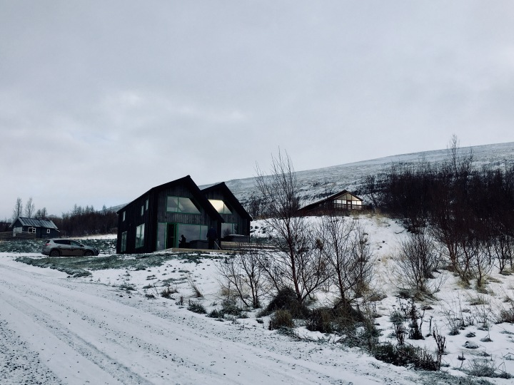 Cabin near Akureyri, Iceland.