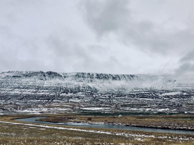 Mountains near Akureyri in northern Iceland.