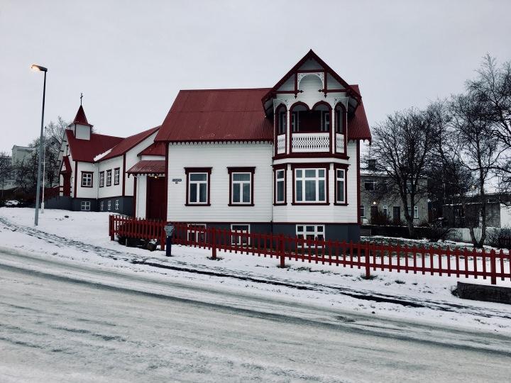 House in Akureyri, Iceland.