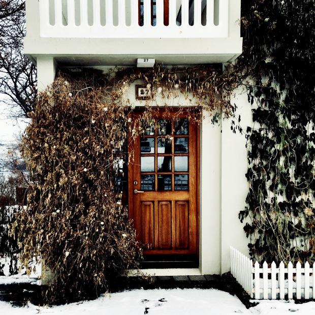 Door of house in Akureyri, Iceland.