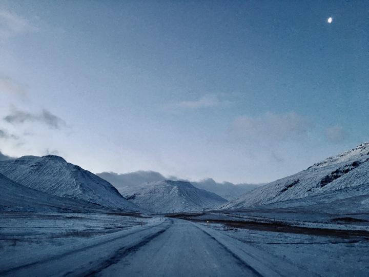 Highway 1 in Iceland, near Bikka.