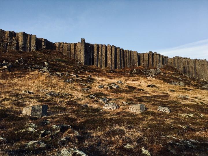 Gerduberg basalt columns, Iceland.