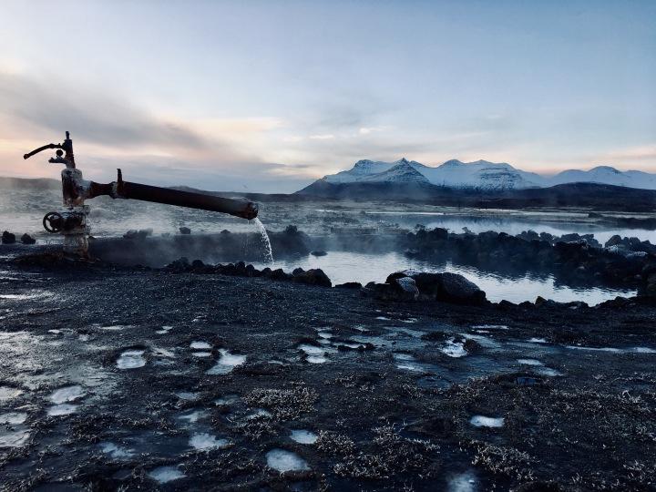 Landbrotalaug hot spring, Iceland.