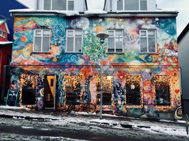 Shopfront in downtown Reykjavik.