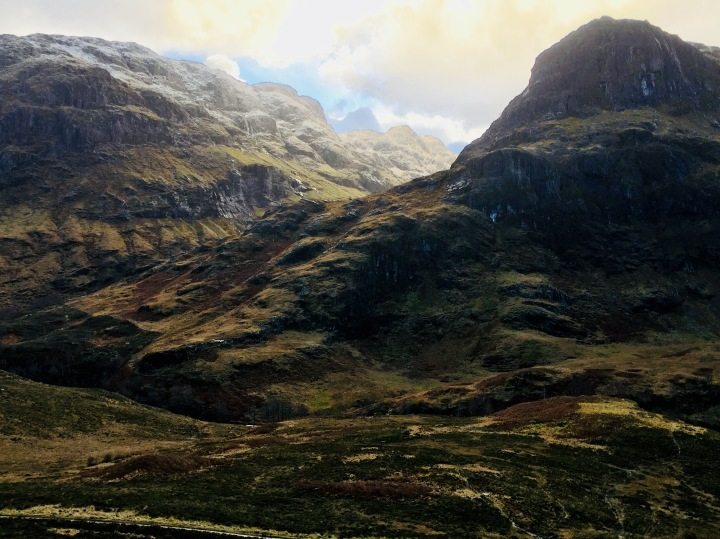 The Scottish Highlands around Glencoe.