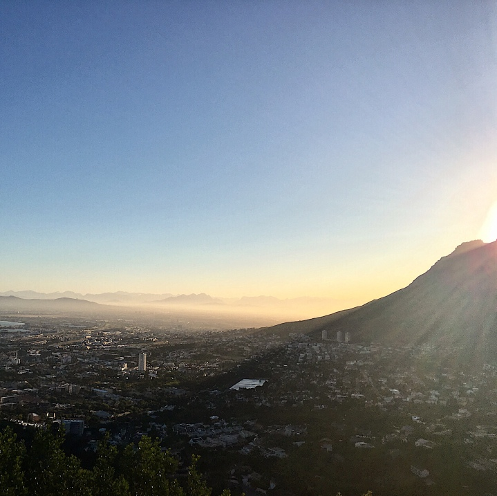 Sunrise over Cape Town, South Africa from Lion's Head.