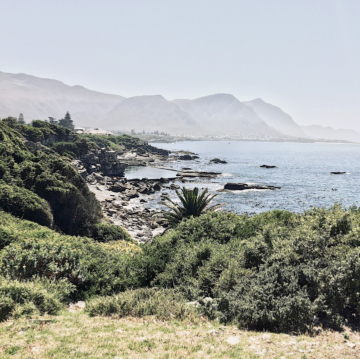 Coastline near Hermanus, Western Cape, South Africa.