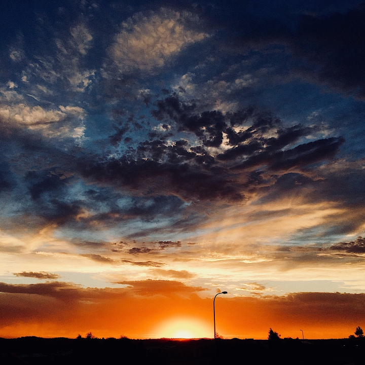 Sunset, Wagga Wagga, NSW, Australia.