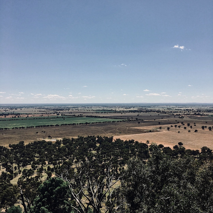 View from Galore Hill, Lockhart Shire, NSW, Australia.