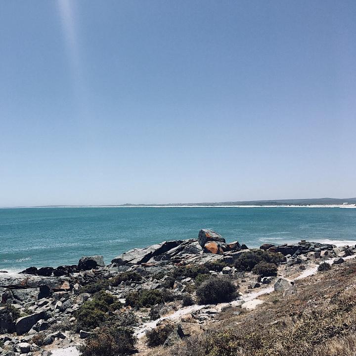 Coastline around Yzerfontein, Western Cape, South Africa.