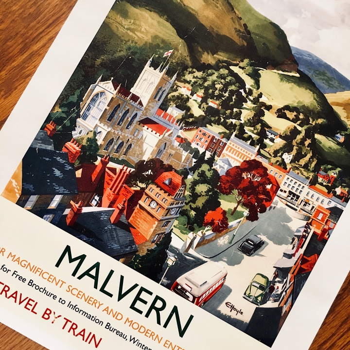 Malvern, Worcestershire rail poster.