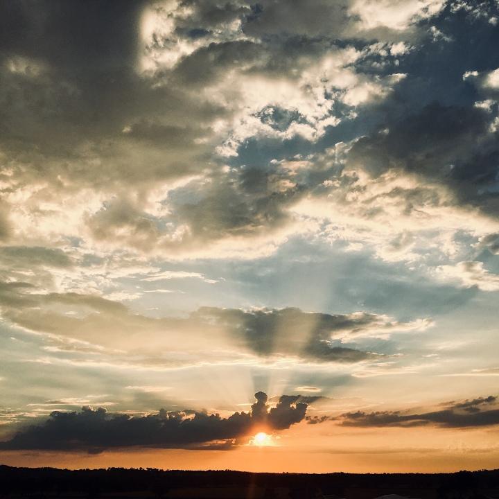 Sunset in Wagga Wagga, New South Wales, Australia.