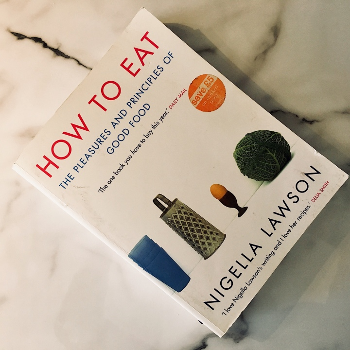 Nigella Lawson's How to Eat cook book.