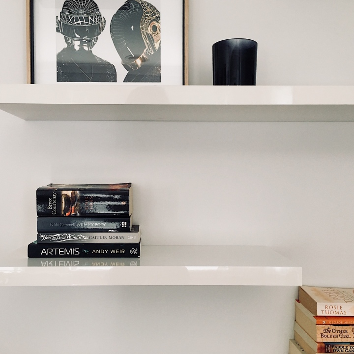 Minimalistic book shelf.