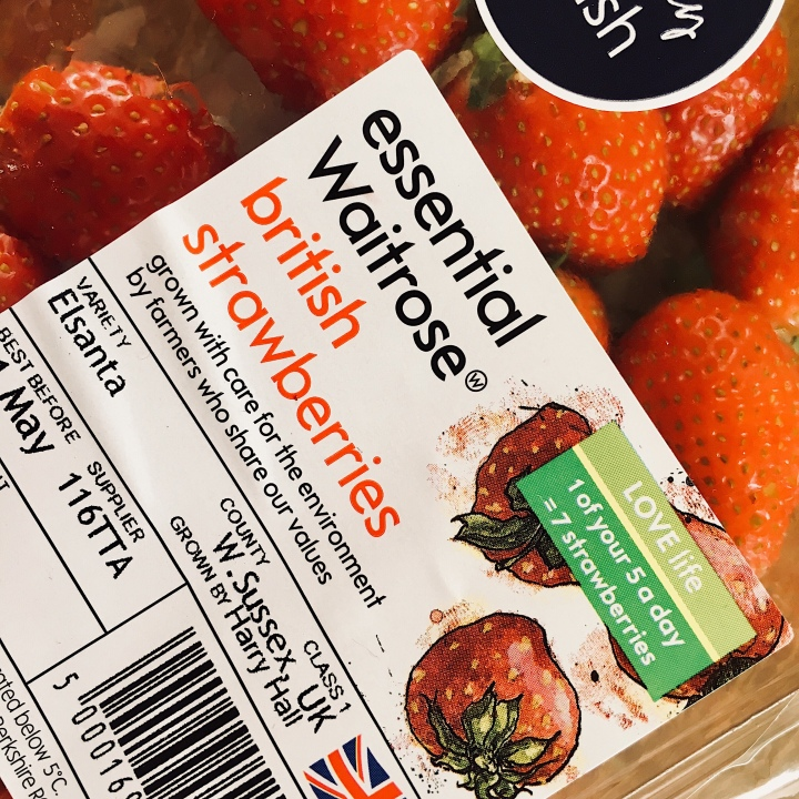 Waitrose Essential strawberries.