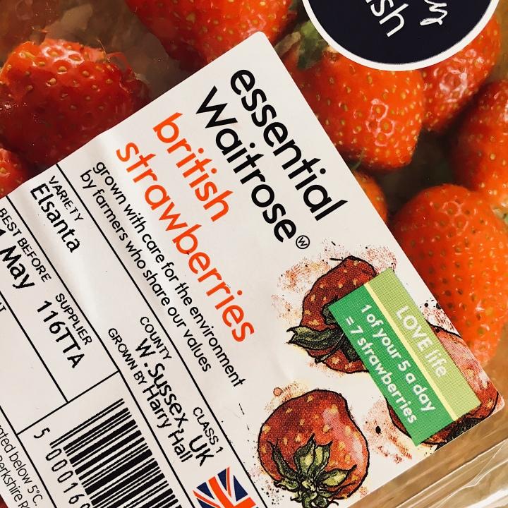 Waitrose Essential strawberries.