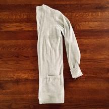 Light grey cardigan.