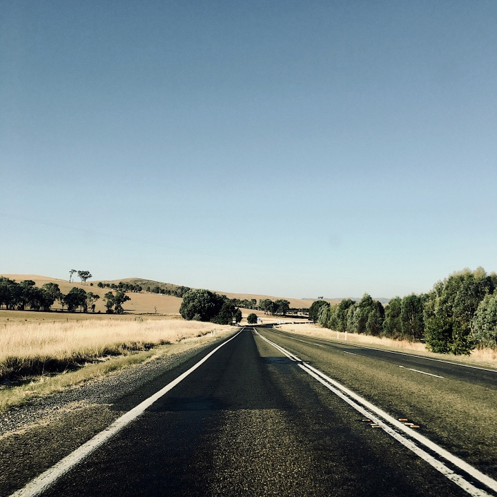 The Hume Highway between Wagga Wagga and Canberra, Australia.
