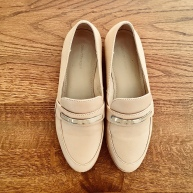 Nude loafers.