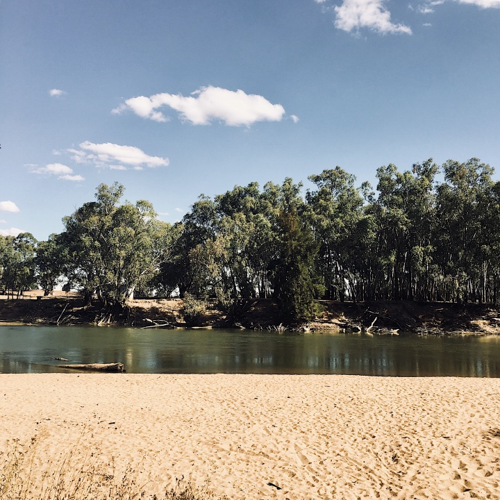 The Murrumbidgee River at Narrandera.