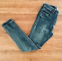 Faded black jeans.