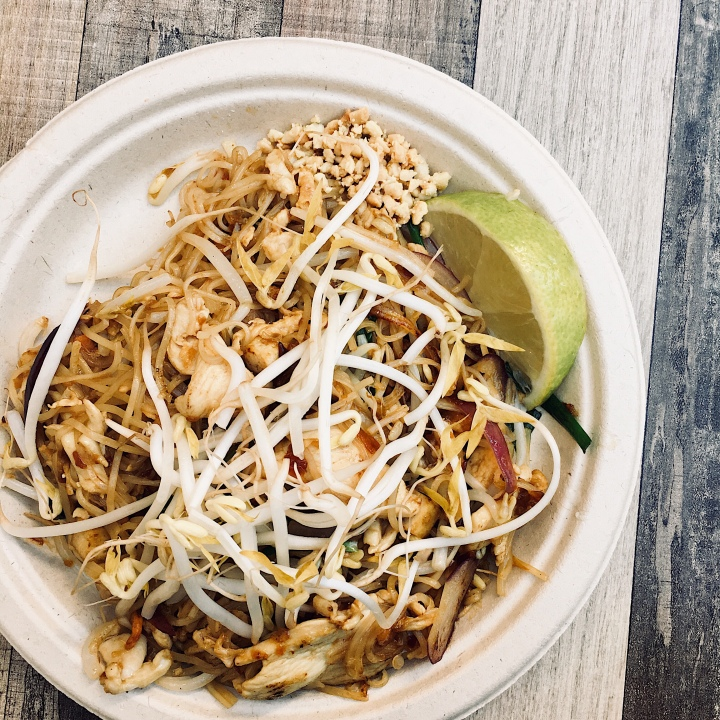 Pad-thai from a vendor in Spice Alley, Chippendale, New South Wales, Australia.
