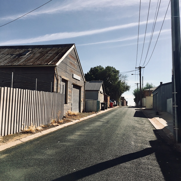 Laneway in Temora, New South Wales, Australia.