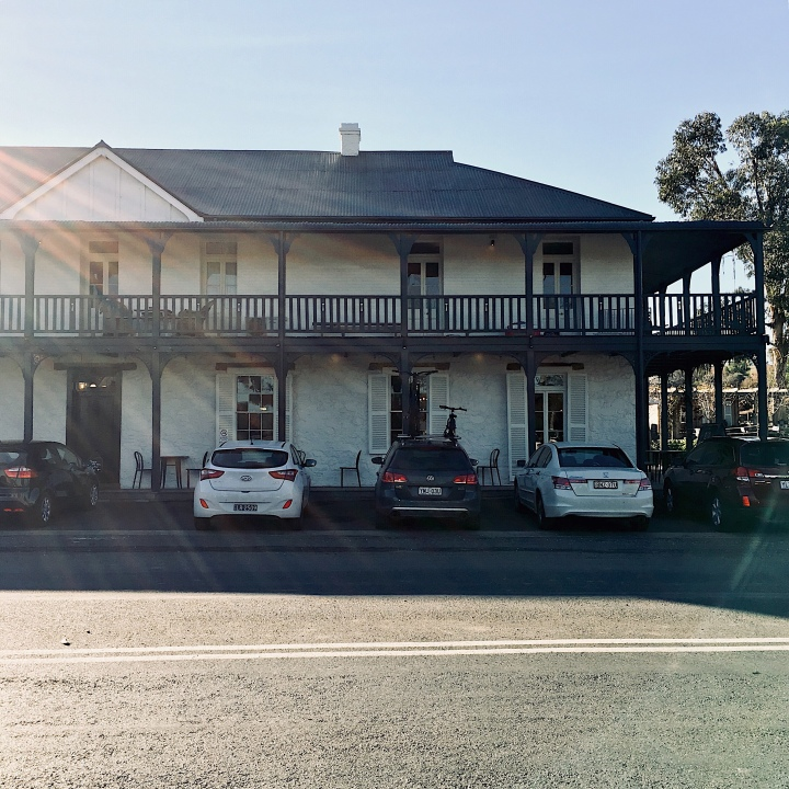 The exterior of The Sir George pub in Jugiong, New South Wales, Australia.