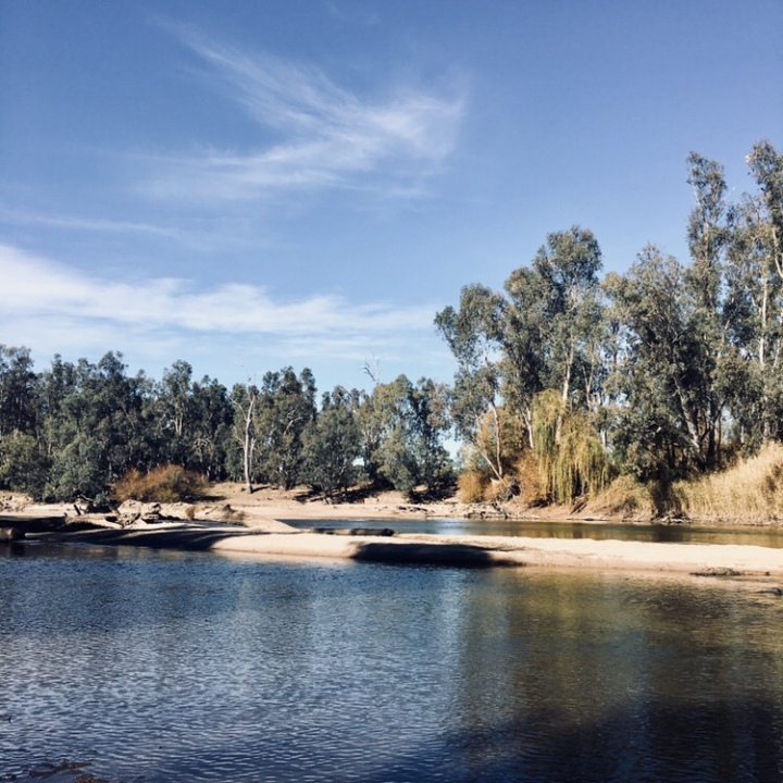 The Murrumbidgee River at Oura, New South Wales, Australia.