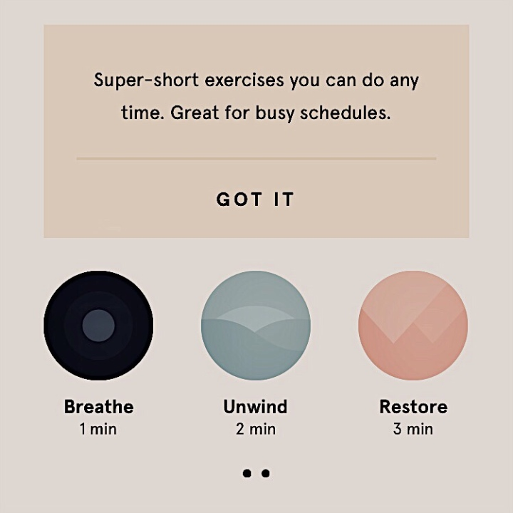 Mini meditations available on the Headspace app.