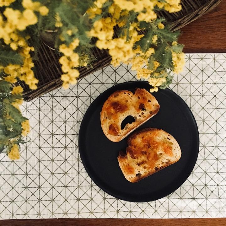 Sourdough toast with home made marmalade.