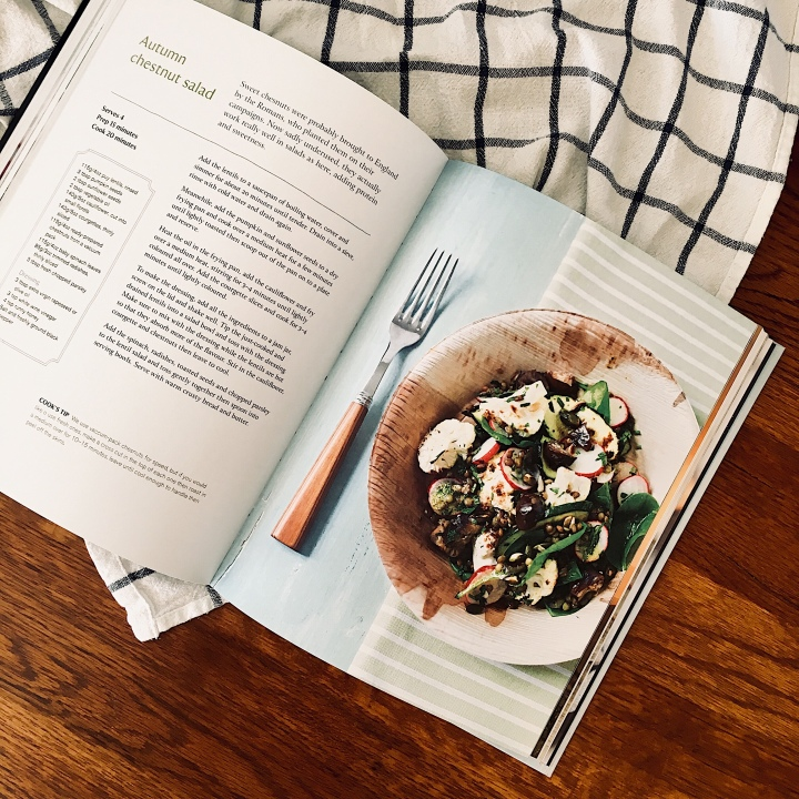 Autumn chestnut salad recipe in the National Trust Cookbook.