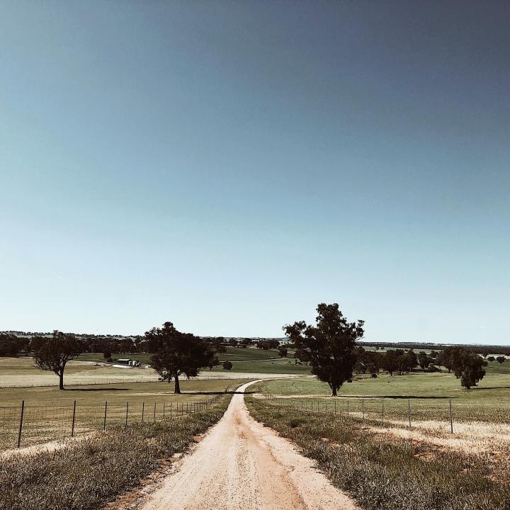 The road to Morgan's lookout, Walla Walla, New South Wales, Australia.