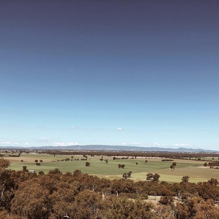 View from Morgan's lookout, Walla Walla, New South Wales, Australia.