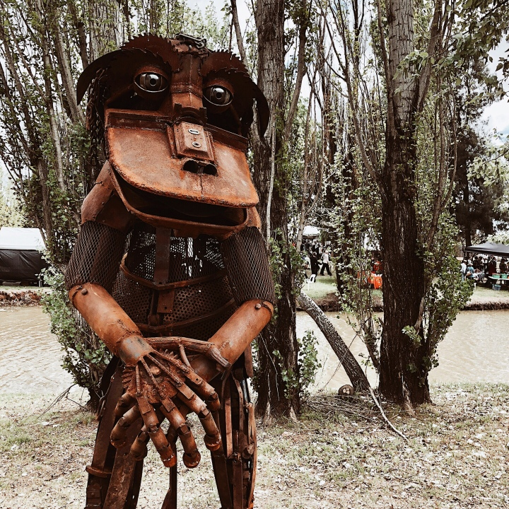 Bunyip sculpture at the Spirit of the Land festival at Lockhart, New South Wales, Australia.