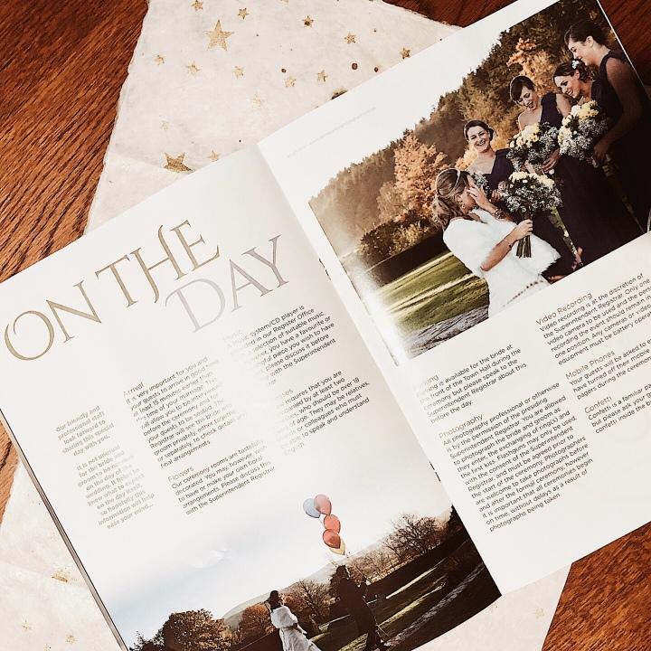 Wedding brochure.
