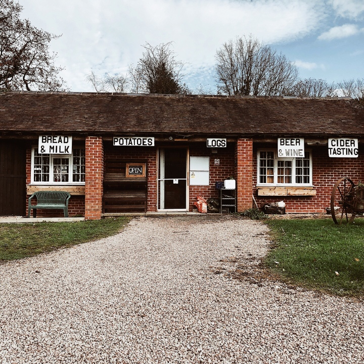 Crumpton Hill Farm Shop, Storridge, Worcestershire, England.