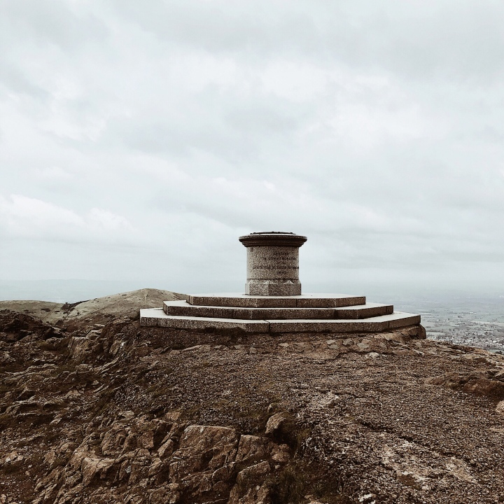 The Worcestershire Beacon atop the Malvern Hills in England.